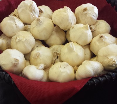 Basket of Smoked Garlic
